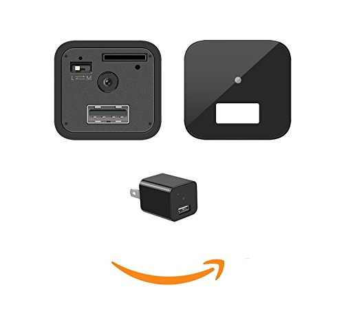 More Durable Hidden Camera with 2 Back Cover, Lamdico Hidden Camera with 1080P, Hidden Nanny Cam with Motion Detection and Loop Recording for Home and Office - Storage up to 32 GB 2 Motion Detection Cameras