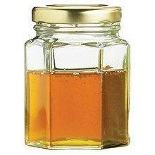 Nutley's 55ml Small Hexagonal Glass Jam Jar with Screw Li...