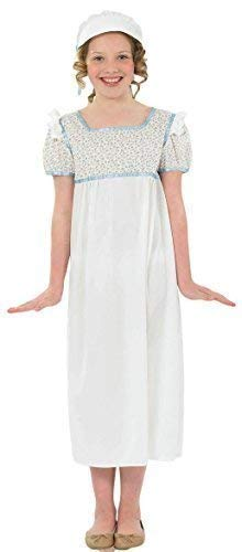 Regency Dress, Shoes | Jane Austen Clothing Girls White Rich Regency Historical School Fancy Dress Costume Outfit 4-12 Years $19.48 AT vintagedancer.com