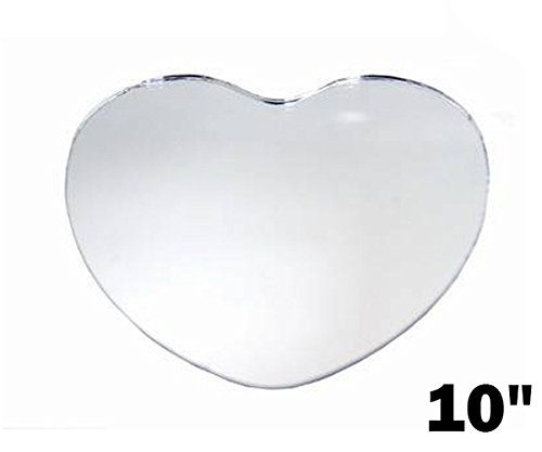 "BalsaCircle 36 pcs 10"" HEART Glass MIRROR Wedding Table C..."