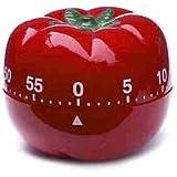 Novelty Kitchen Timer - Tomato, Pepper, Lemon, Chef, Toaster, Pear, Garlic, Boiled Egg, Apple (Tomato)