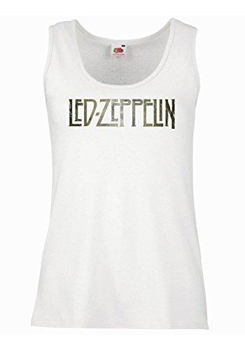 """Tank Top Damen """"Led Zeppelin"""" - Grunge Logo 100% Baumwolle LaMAGLIERIA"""