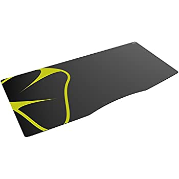 Mionix Sargas Extra Large XL Gaming Desk- Mousepad (35.4 x 15.75 x 0.10 Inch), Speed Surface, Black and Yellow