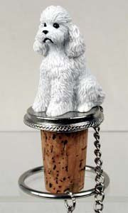 Poodle Bottle Stopper (White Sport cut) by Conversation Concepts