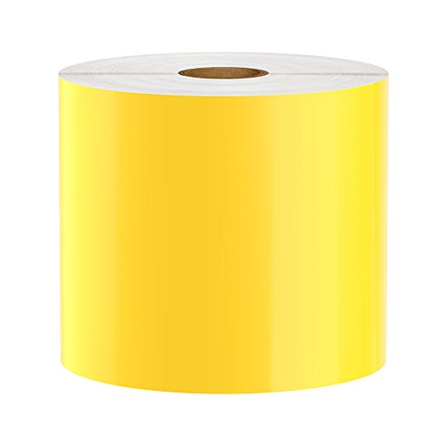 LabelTac Compatible Premium Vinyl Tape Supply, Yellow, 4