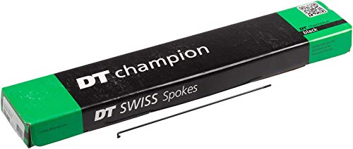 DT Swiss 261 2.0/14G Champ Spokes (Box of 72), Black by DT Swiss