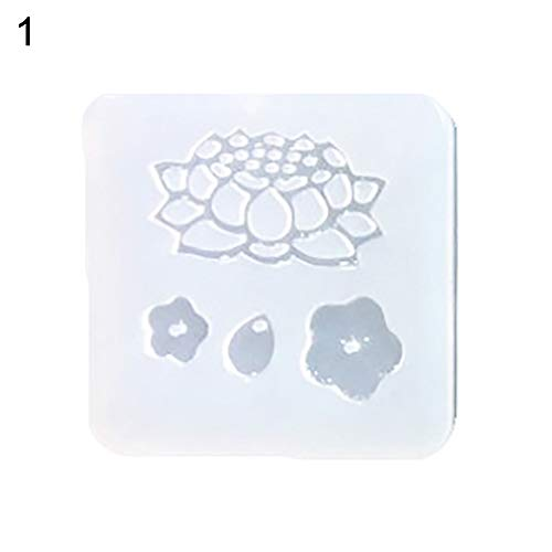 (CHoppyWAVE Enamel Brooch Pin,Flower Butterfly Silicone Mold Craft Jewelry Hairpin Brooch Making DIY Tool - 1#)
