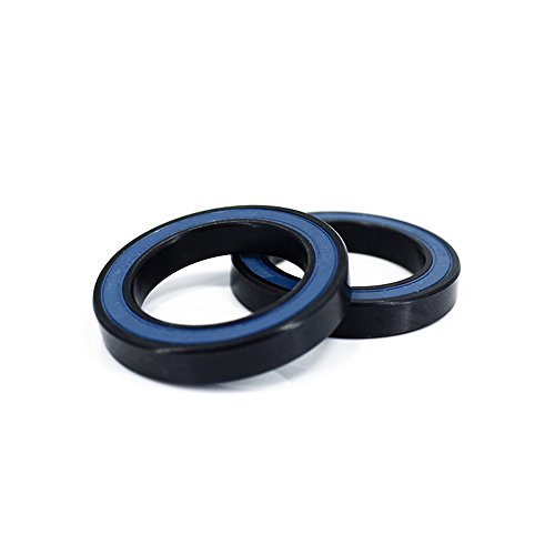 6805N Ceramic Bearing | Si3N4 Ceramic Beads & Black Steel Rings | 25X37X6mm 2RS for Racing Bike Wheel BB51 (2 PACK) 2rs Bike Wheel