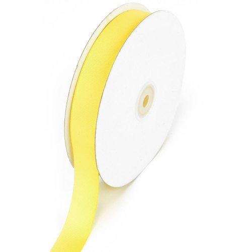 Creative Ideas 7/8-Inch Solid Grosgrain Ribbon, 50-Yard, Canary Yellow