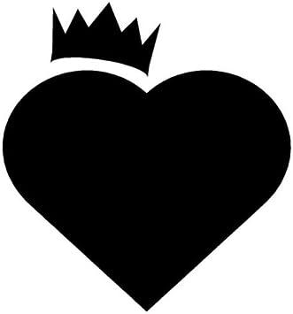 Crown Hearts Vinly Sticker Love Princess Queen Laptop Car Window Bumper Decal