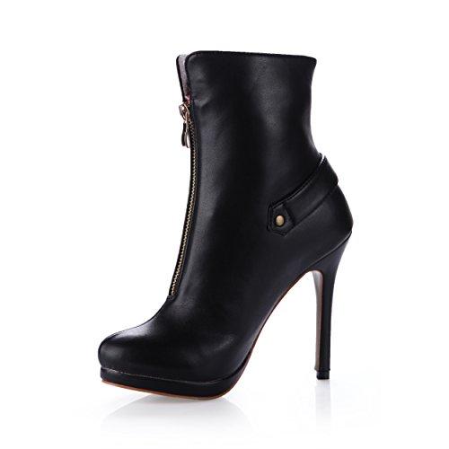 De Señoras Con Discotecas Alto Black Boot Cena Invierno Zapatos Los Negros Bota Nuevo Sujetadores Tacón Media Hembra xq1wggYOv