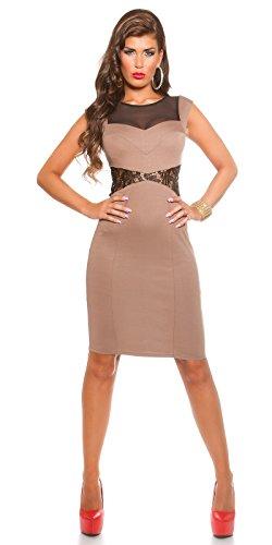 In-Stylefashion - Vestido - Estuche - para mujer marrón oscuro