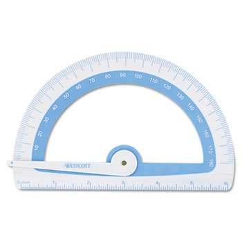 Westcott Soft Touch School Protractor With Microban Protection, Assorted