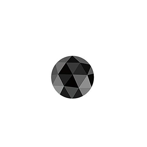 1.06 Cts 6.67-6.57×2.87 mm AA Round Rose Cut ( 1 pc ) Loose Black Diamond {DIAMOND APPRAISAL INCLUDED}
