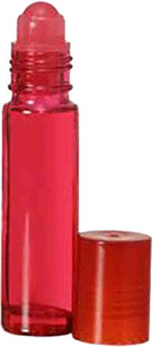 288 Pack: 10ML Red Glass Premium Roll On Bottles Matching Cap Plastic Insert Empty Containers Essential Oil Aromatherapy Perfume Cologne Wholesale and Other Quantities Available by The Parfumerie