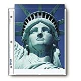 Print File Archival Photo Pages Holds Two 8.5x11'' Prints, Pack of 25