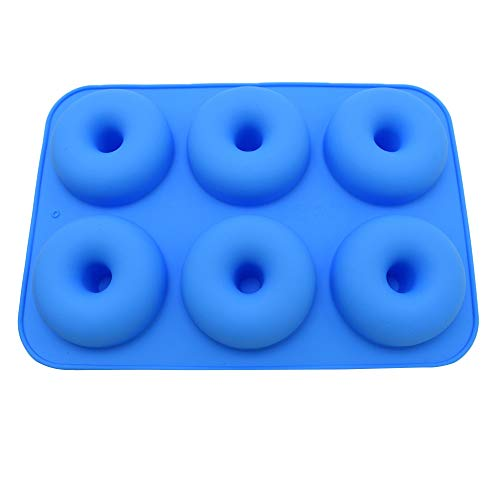 (NIKAIRALEY Home Non-Stick 6-Cavity Silicone Donut Baking Pan, Non-Stick Round Donut Molds, Oven, Microwave,Easy Clean)