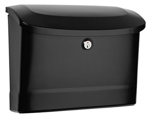 Architectural Mailboxes 2572B-10 Princeton Locking Wall Mount Mailbox, Medium, Black (Wall Mounted Locked Mailbox)