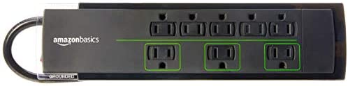 AmazonBasics 8 Outlet Surge Protector 6 Foot product image