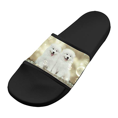 Men Casual Black Non amp; Pet Comfortable Soft Puppy Bubble Slip Sandals Women Dog Slippers Sandals Samoyed 7TRZfwXxqT