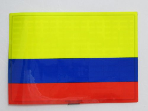 Colombia Colombian COL Flag FLASHING Sound Activated DJ Light Up LED Decal Sticker Patch Panel -