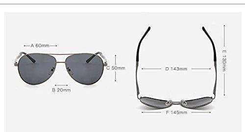 Cicongzai Marque Soleil Gray Soleil Lunettes Color De Fashion Classique Lunettes de Gun gray Hommes Sol Femmes Gafas UV400 Designer De New Vintage Black Bande r1vrY