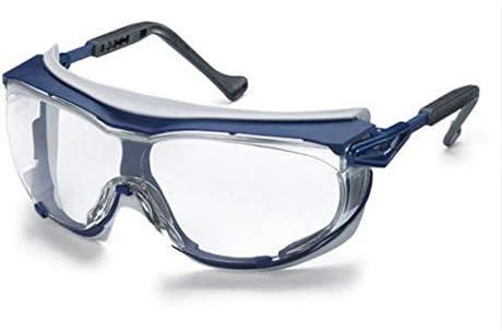 安全メガネ - ゴーグル、防風性、防風性、防滴、フロントガラス (Color : Blue)