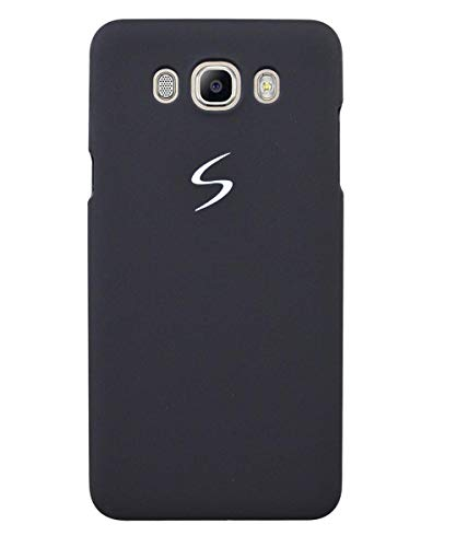 COVERBLACK Luxurious Leather Back Cover for Samsung Galaxy J7 6  New 2016 Edition    Black
