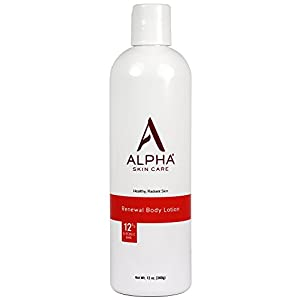 Alpha Skin Care - Renewal Body Lotion, 12% Glycolic AHA, Supports Healthy Radiant Skin| Fragrance-Free and Paraben-Free| 12-Ounce