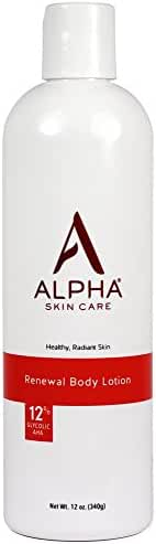 Alpha Skin Care Renewal Body Lotion with 12% Glycolic Aha, 12 oz.