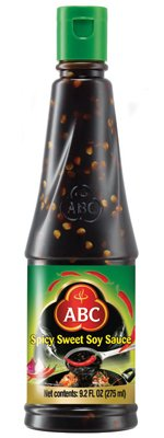 KC Commerce ABC Spicy Sweet Soy Sauce 9.2oz Pack of 2 (Sauce Abc Chili Sweet)