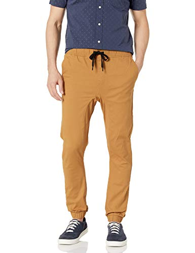 Southpole Men's Basic Stretch Twill Jogger Pants – Reg and Big & Tall Sizes