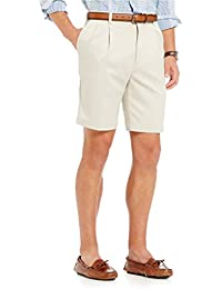 """TravelSmart 9"""" Inseam Pleated Easy Care Ultimate Comfort Shorts Y75HR401 Stone Size 36"""