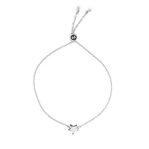 Pura Vida Silver Star Chain Bracelet - Waterproof, Artisan Handmade, Adjustable, Threaded, Fashion Jewelry for Girls/Women ()
