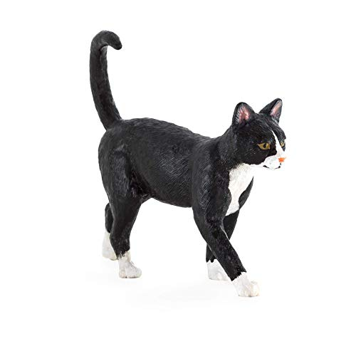MOJO Cat Black & White  Toy Figure
