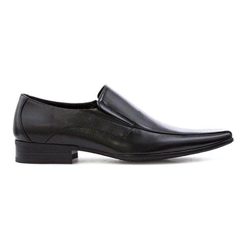 Beckett Heren Zwarte Slip Op Schoen Zwart