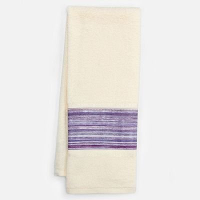 '' Shimmer Stripes'' Bathroom Shower Collection - Set of 2 Fingertip Towels by Saturday Knight Limited