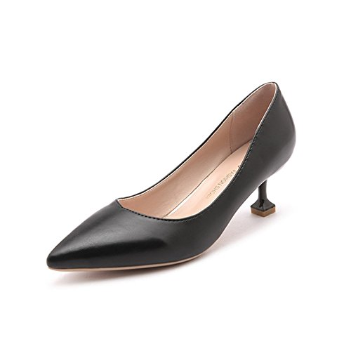 da bocca fine elegante Single tacco nbsp;cm alti Qiqi a donna tacchi con professionale con 5 da nero lavoro punta scarpe nero Xue scarpe 38 wIqzpUWUv