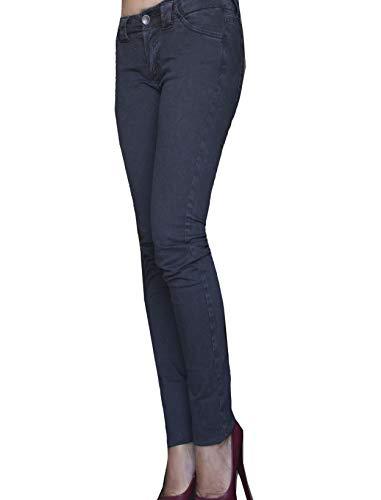 Nero Aderente it Women's fr 30 en Donna Street Pantalon Vita Pantaloni Noir Skinny Autunno Jeans Femme Trousers nbsp; Inverno Black Bassa Fustagno qRXw4nXS