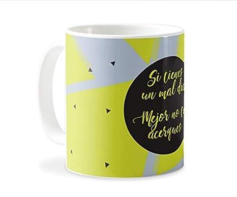 Personaliza tu carcasa Tazas de café o Desayuno con diseños de Latorita | Tazas de cerámica Blanca de Calidad Premium (AAA) | Taza con Frase - Si ...