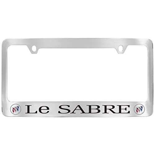 Cheap Buick Le Sabre 1980-2001 Logo Chrome Plated Brass License Plate Frame supplier