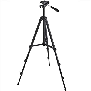 Professional 60-inch Lightweight Tripod for All Digital SLR Cameras and Camcorder Canon Sony, Nikon, Samsung, Panasonic, Olympus with Quick Release Mount + Carrying Case + Camera Lens Cleaning Kit from Photo4Less