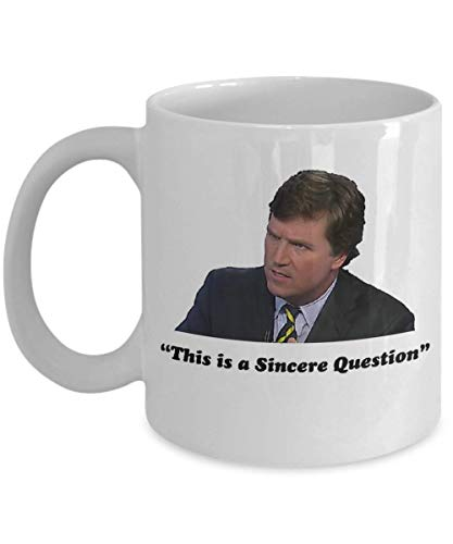 Tucker Carlson Coffee Mug, Funny, Cup, Tea, Gift For Christmas, Father's day, Xmas, Dad, Anniversary, Mother's day, Papa, Heart, Santa