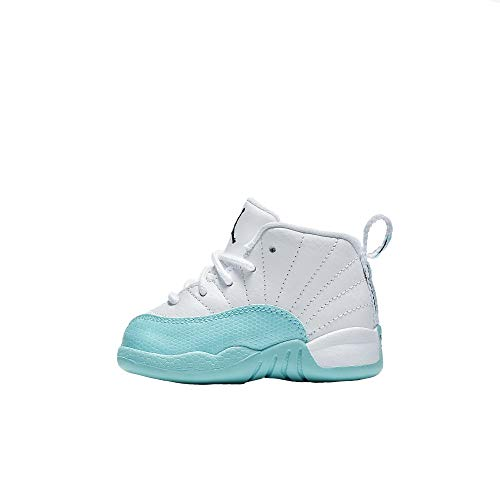 Jordan Retro 12'' Light Aqua White/Black-Light Aqua (Toddler) (5 M US Toddler) by Jordan