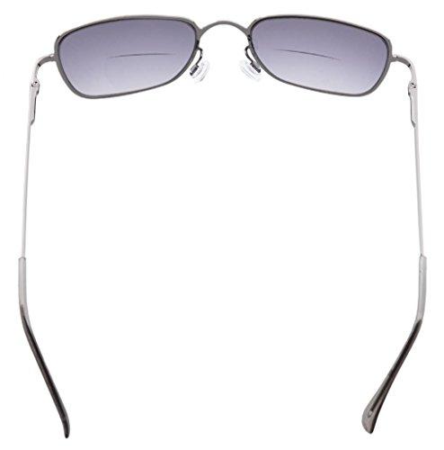 de Gafas de policarbonato muelle bifocales Lente Lentes grises 1 lectura Lentes Bisagras Grises de 00 gYXRwqq