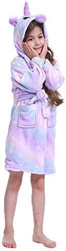 N/N Toddler Unicorn Bathrobe Hooded Sleepwear Shower Robe Unicorn Gifts for Girls