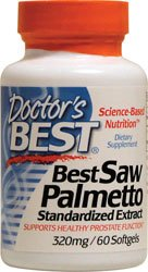 Doctor's Best Saw Palmetto Extract -- 320 mg - 60 Softgels