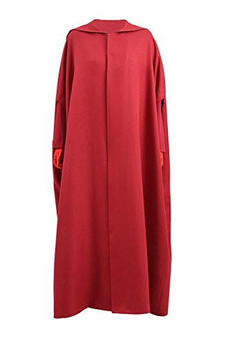 Halloween Party Women Handmaid Red Cape Dress Costume (Custom, Cape)]()