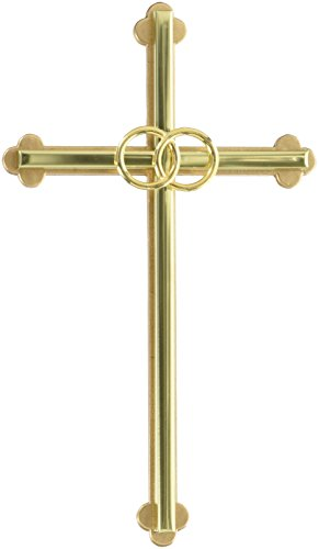 Cathedral Art NC303GP Wedding Cross, 8-Inch, - Irish Wedding Catholic