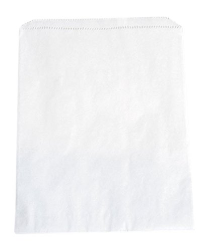 KC Store Fixtures 06060 Kraft Paper Bag, 8.5'' x 11'', White (Pack of 1000)